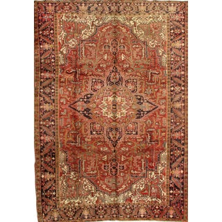 Pasargad NY Persian Semi-Antique Heriz Hand-Knotted Rug - 10' x 13'3""
