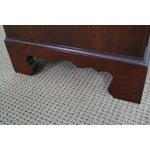 Image of Mahogany Burl Front 4 Drawer Chippendale Chest