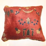 Image of Antique Persian Rug Fragment Pillow