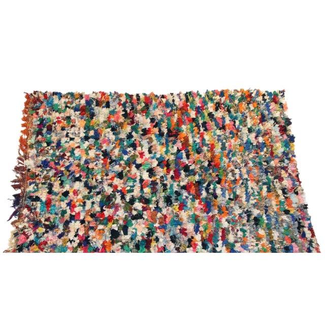 Vintage Boucherouite Carpet - 4′7″ × 6′5″ - Image 1 of 3