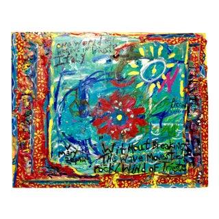 """One World"" Mixed Media Painting"