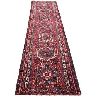Vintage Decorative Long Persian Heriz Karaje Runner Rug - 2′11″ × 12′11″