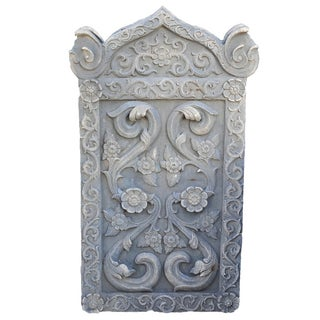 Floral Carved Stone Plaque
