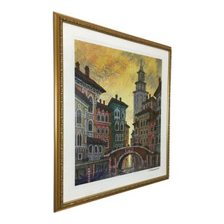 Venice Yellow Sunset Seriolithograph
