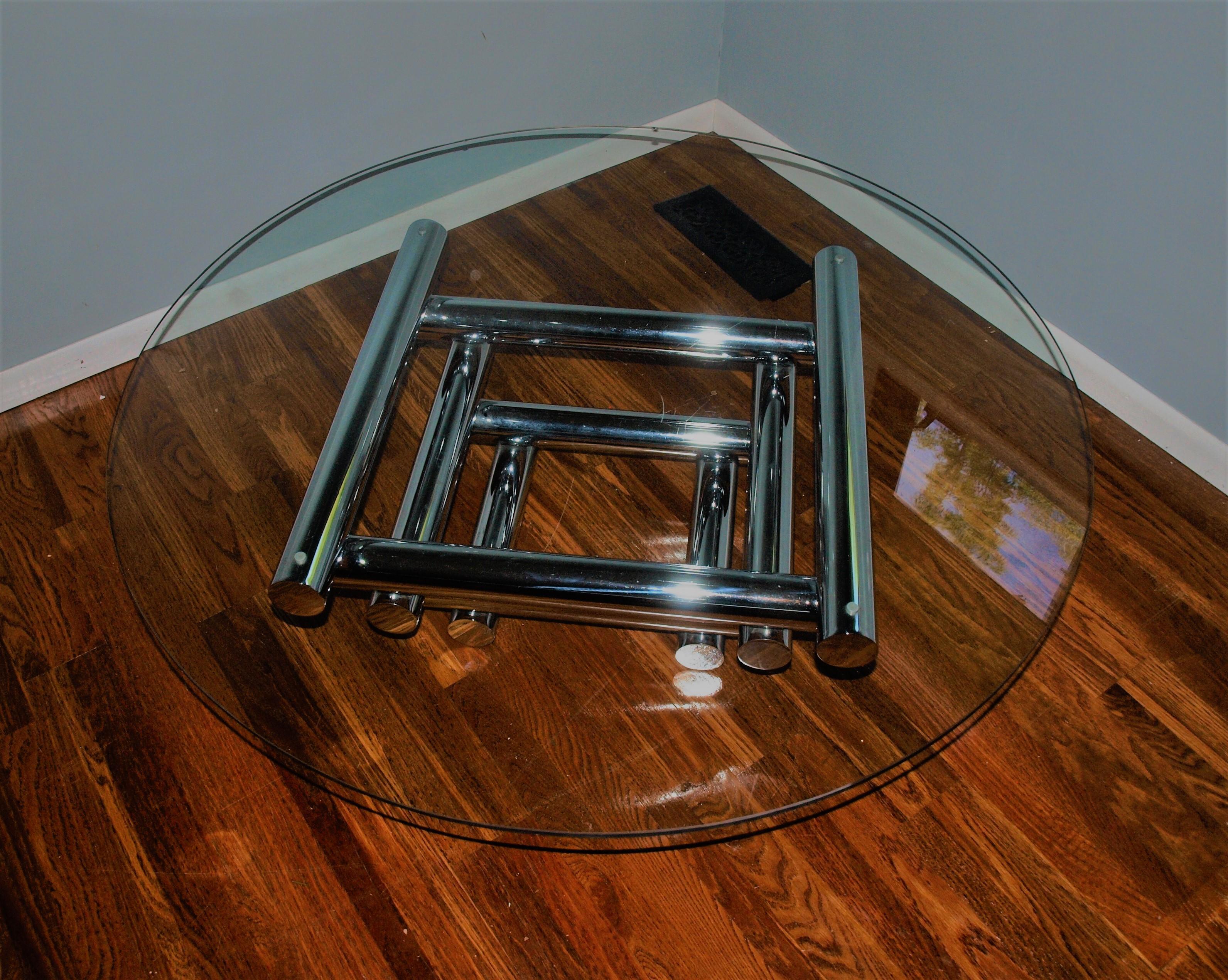 Mid Century Stacked Tubular Chrome Coffee Table Base   Image 2 Of 10