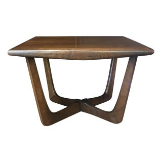 Sculptural Walnut Side Table by Kroehler