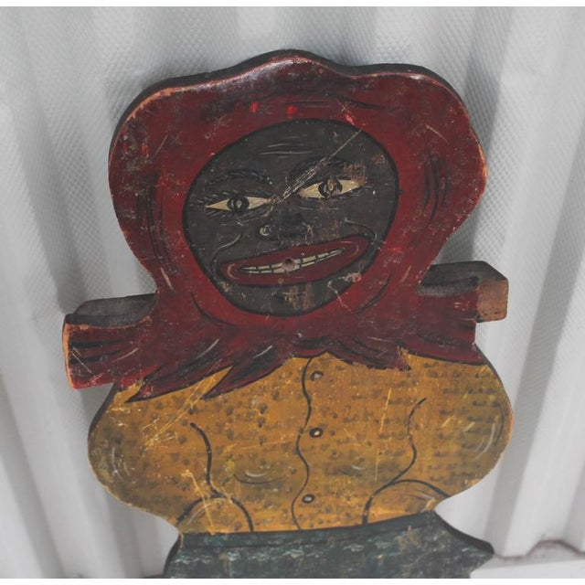 Image of Large Handmade Folk Art Mammy Carnival Art