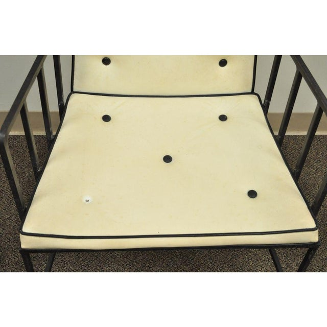 Vintage Mid Century Modern Wrought Iron Arthur Umanoff Paul McCobb Arm Chair - Image 10 of 11