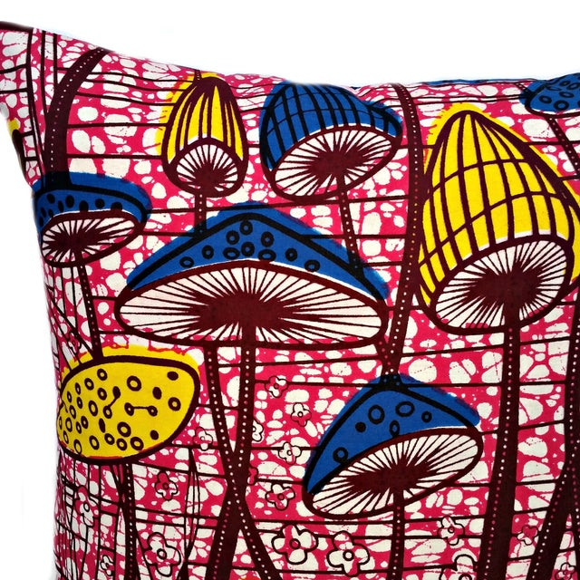 Image of Flower Patch African Dutch Wax Pillows - A Pair