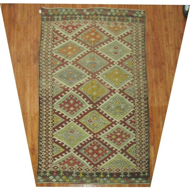 Image of Vintage Geometric Kilim Rug - 6'1'' X 10'6''