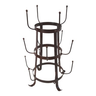 Rustic Iron Tabletop Bottle Drying Rack