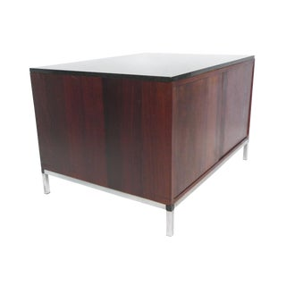 Mid-Century Rosewood & Marble-Top Cabinet