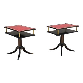 Vintage Mahogany Side Tables - a Pair