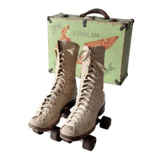 1940s Chicago Roller Skates with Case