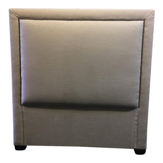 Linen & Bronze Twin Size Upholstered Headboard