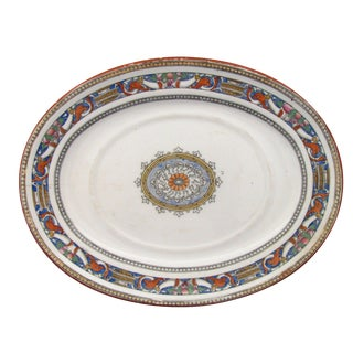 Antique Minton English Transferware Platter, C. 1875