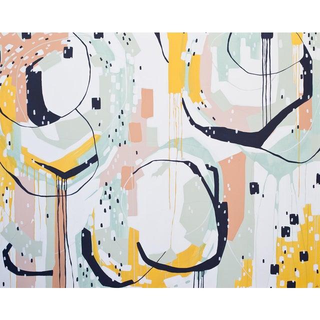 "Beth Winterburn Original Abstract - ""Sherbet Summer"" - Image 1 of 6"