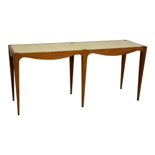 Julian Chichester Leather and Oak Table