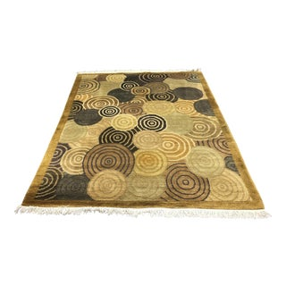 Nepali Vegetable Dyed Wool Rug - 6′ × 9′1″