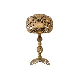 Antique Brass Cutwork Table Lamp