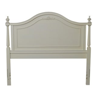 French Louis XV Style White Painted Queen Size Headboard