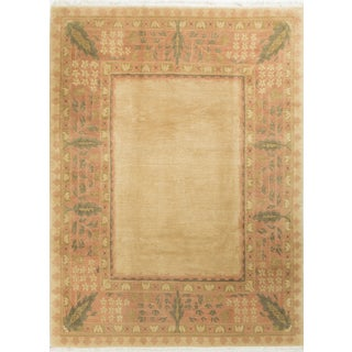 "Contemporary Hand Knotted Wool Rug - 8'11"" X 11'10"""