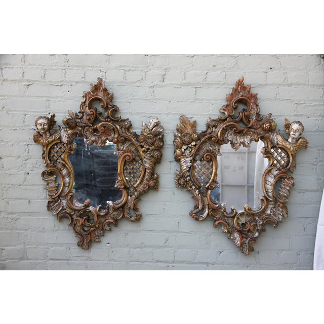 Image of Italian Baroque Style Mirrors - A Pair