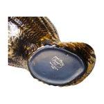 Image of Stangl Mid-century Black & Gold Ceramic Seashell