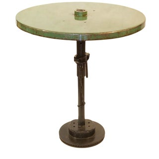 Industrial Light Green Bistro Table