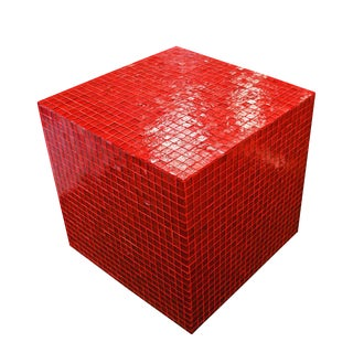 Italian Red Mosaic Cube