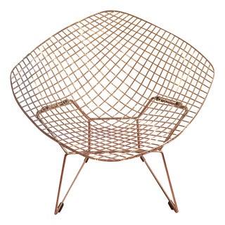 Mid-Century Modern Bertoia Style Diamond Chair