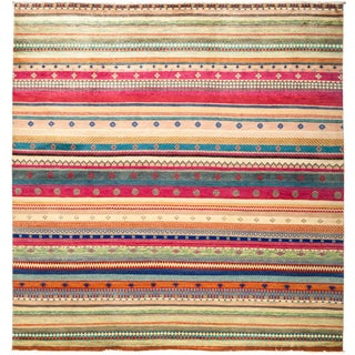 """Lori, Hand Knotted Area Rug - 8'1"""" X 8'4"""""""