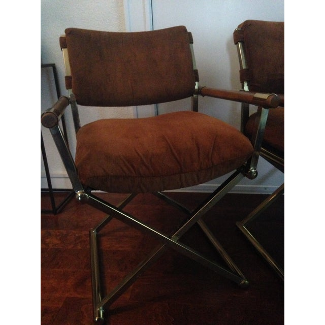 Milo Baughman Vintage Director Chairs A Pair Chairish