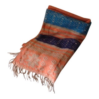 Boho Orange & Blue Fringed Runner