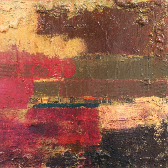 Textural Abstract Oil Painting - Image 3 of 7