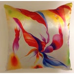 Image of Abstract Red & Yellow Pillow