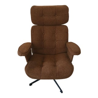 Mid-Century Homecrest Brown Tweed Rocker