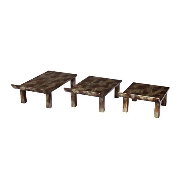 "Truex American Furniture ""Pagoda"" Side Table - Image 3 of 3"