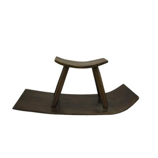 Village Wood Rocking Sliding Stool Chair
