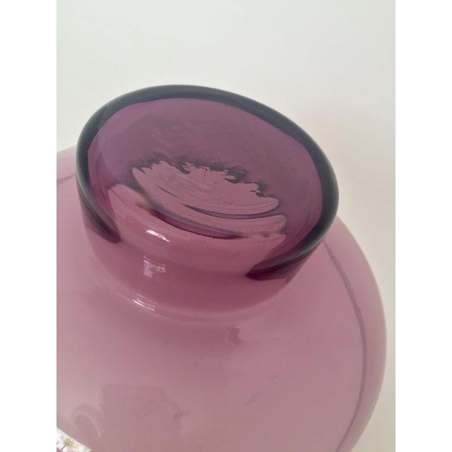 Vintage Lavender Scandinavian Art Glass Bowl - Image 7 of 7