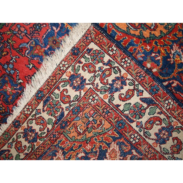 1970s Hand Made Vintage Persian Mashad Rug - 4′7″ × 6′4″ - Image 6 of 10