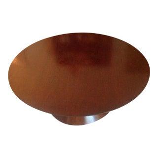 Dark Walnut Pedestal Coffee Table