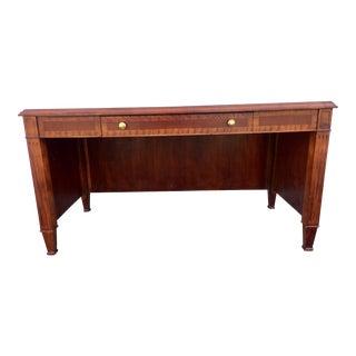 Red Mahogany & Tiger Wood Executive Desk
