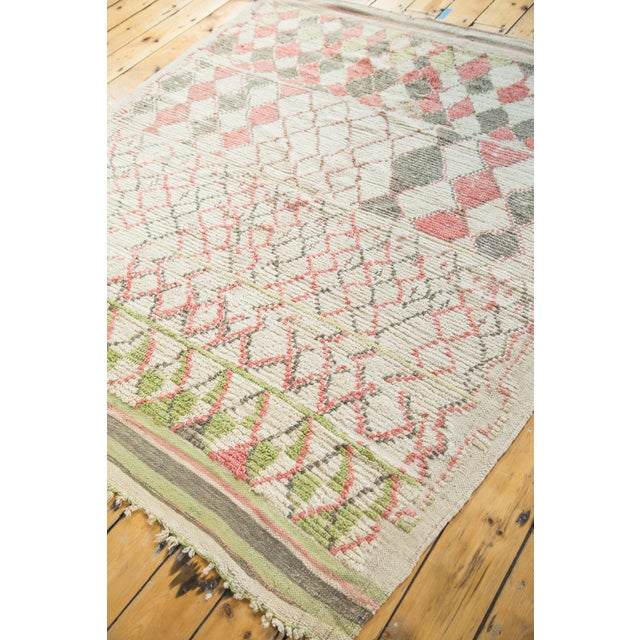 """Vintage Moroccan Square Rug - 5'8"""" x 5'9"""" - Image 5 of 5"""