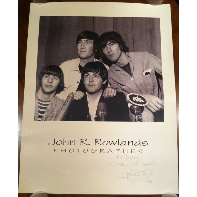 Image of Beatles Press Conference Signed Photograph