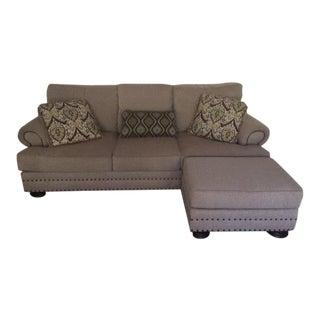 """Thomasville """"Foster"""" Sofa & Custom Ottoman"""