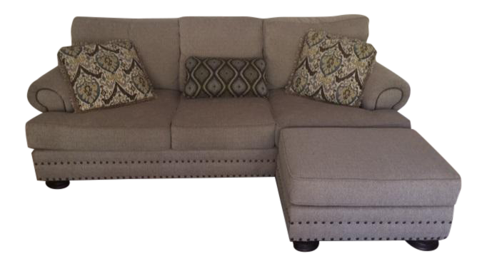 Thomasville  Foster  Sofa u0026 Custom Ottoman  sc 1 st  Chairish : thomasville chaise lounge - Sectionals, Sofas & Couches