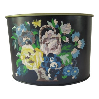 Hand-painted Tole Container