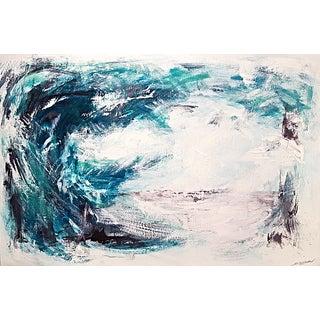 "ArtSeya ""Moonlight Beach"" Original Painting"