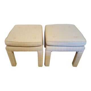 Parsons Style Upholstered Benches - A Pair